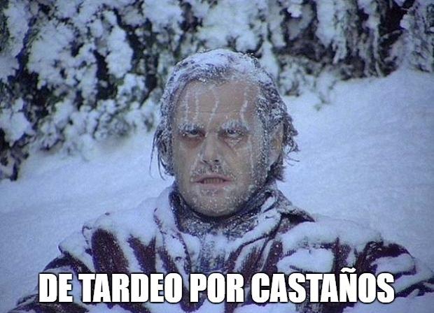De tardeo por Castaños pasando frío.