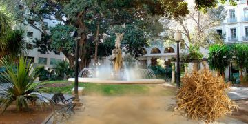Así estaba la Plaza Gabriel Miró en la celebración del ascenso a Tercera por parte del Intercity Sant Joan