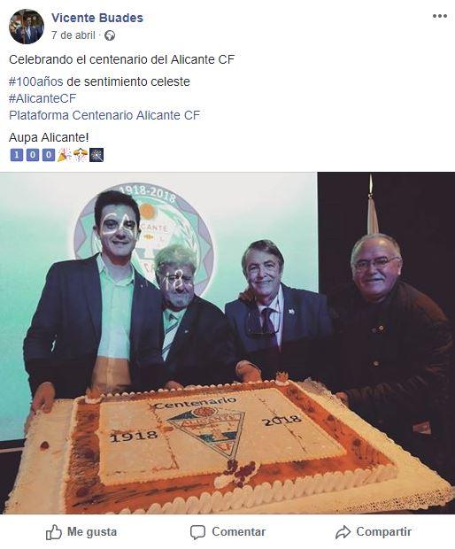 Celebrando 100 años del Alicante CF.