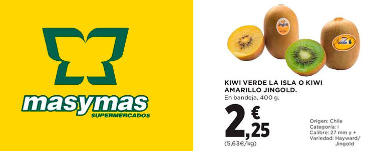 Oferta kiwis supermercado MasyMas