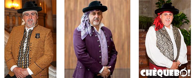 Manolo Jiménez con diferentes trajes de saragüell